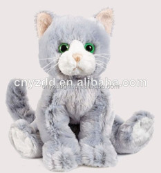 cute cat plush toy/plush toy cat/plush big eyes cat toys
