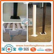 Anodized Black Powder Coated Flange Inground Aluminum Gate Post For USA AU NZ Market (Factory & Exporter)