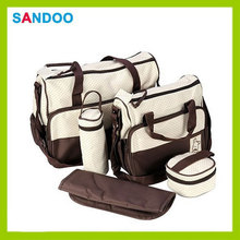 5 pc set baby changing diaper nappy mother handbag, portable custom mama bag