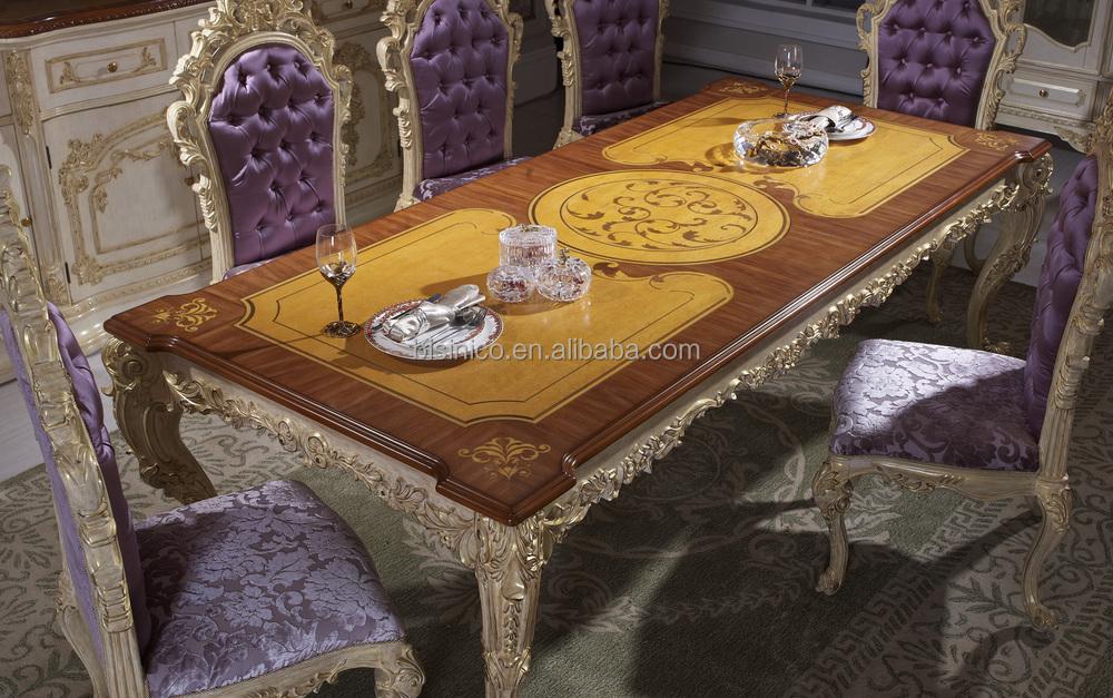 Mesa comedor de lujo, europeos antiguos muebles de comedor de ...