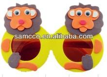 Eva Handmade Cartoon Child Eyeglasses, DIY 3D Sticker Animal Kids Glasses, Educational Toys,Party Gifts