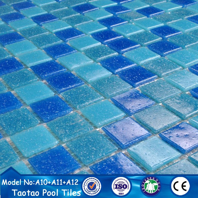 Swimming pool tile types of glass mosaic tiles prices in egypt for Glass mosaic swimming pool tiles