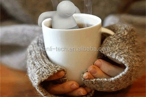 Mr Tea Infuser Silicone Herbal Tea Strainer Filter