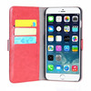 China factory leather belt clip flip wallet case for iphone 6