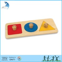 Educational teaching aids AMI natural wood montessori materials toys
