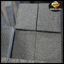 Cheap China absolute black granite flamed