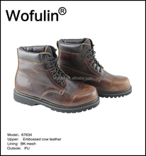 safety boot manufacturers/horse leather working safety shoe