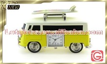 Vivid zinc alloy Camper Van shaped decoration Clock