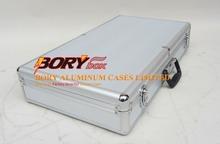 Hard portable custom made industrial aluminium suitcase