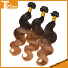 Worldwide Popular Hair Style 6A Ombre Haur Weaves Two Tone Ombre Color 1B/30 Honey Blonde Hair Weft Body Wave Mongolian Hair
