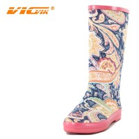 good year rubber boots cloth printing with flower