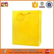 Yellow gift bags