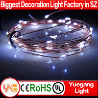 CE ROHS approved waterproof battery led light IP65 led copper wire twinkle light warranty 2 years silver wire led string light