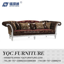 Y1269-3# hot sale eruo style big arm royal king size fabric sofa