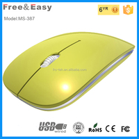 Slim shape ABS material 1.5M cable USB mouse with free sample