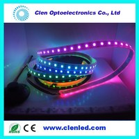digital addressable each led RGB led strip 12V 5050smd 60led/m dimmable led strip ws2812