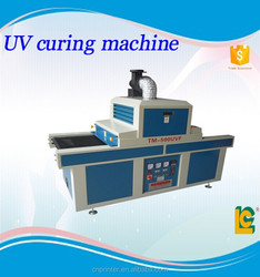 uv screen printing ink UV curing machine TM-500UVF with conveyor belt dry PET PCB