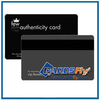 High quality printable pvc vip card plastic authenticity card in black