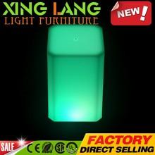 Mudança de cor reciclado PE plástico RGB alterar cor LED impermeável handmad candeeiro de com bateria recarregável