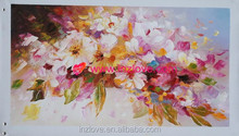 beautiful palette knife flower oil painting on canvas
