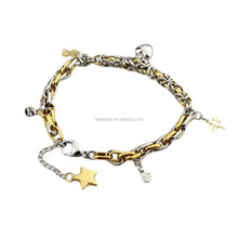 Wholesale Stainless Steel Golden Dragonfly Bracelet for Women Girls Men zz109