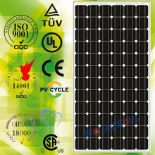 high quality square 48v 195W solar panel made in china with TUV.UL