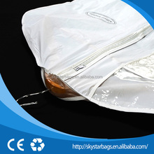 Specifically designed travel bridal garment bags with id card window for sale
