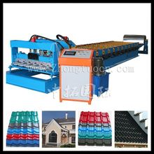 best price glazed tile roll forming machinery, glazed aluminum roof sheet metal rolling machine