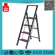 Black Color 4 Step Aluminium Alloy Step Ladder