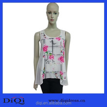 Latest Arrival Summer New trendy Women Chiffon Aesthetic Casual Printing Lady Tops Special Design stylish fashion women tops