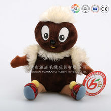 Alibaba China factory wholesale big eyes unstuffed plush animals