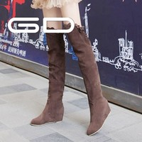 Western new fashion cut out boot over the knee lace up womens boots