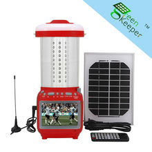 Rechargeable CHL solar cottage lantern with TV and USB charger for Asia