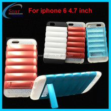 fashion combo case for iphone 6 4.7 inch,pc&tpu hybrid case for iphone 6 4.7 inch,cell phone case for iphone 6 with kickstand