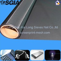 Electric Conductive 100% Polyester Mesh With Metal Coating , High Tension