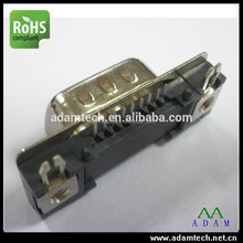db9 male pcb slim right angle d-sub connector