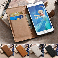 Design your own PU leather industrial cell phone case for Samsung Galaxy S5 I9600 hard protect with wallet function wholesale