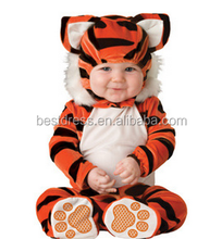 walson100% organic cotton blank baby clothes made in china costume tiger