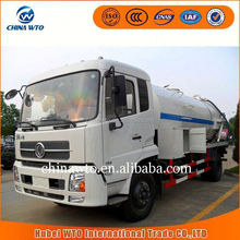 2015 new products SLA5161GXWDFL8 dongfeng tianjin 4X2 Vacuum Sewer Cleaning Tank Truck Sewage Suction Tanker Truck