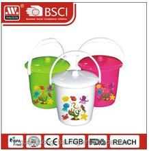 plastic bucket W/lid 5.5L/9L