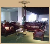 danxueya lous XVI style fabric sofa /half fabric half leather sofa/ lustre style baroque leather sofa M01