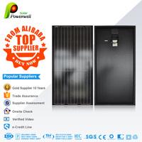 Powerwell Highest Efficiency Sunpower Solar Panel 50w 100W 120W 150W 180W 200w Semi Flexible Solar Panels