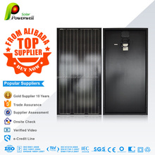 Powerwell Highest Efficiency Sunpower Solar Panel 50w 100W 120W 150W 180W 200w Semi Flexible Solar Panels