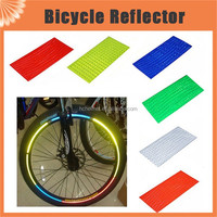 8pcs/pack Reflective Stickers Motorcycle Bicycle Reflector bike wheel stickers Rim Decal Tape Safer