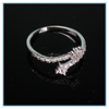 Latest punk style ring designs for girls best selling vintage copper material open ring made in china