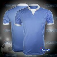 Blue grade original soccer jersey manufacturer, imported soccer jersey from China, jersey thailand bangkok soccer