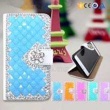Handmade wallet style diamond crystal case for wiko Rainbow jam , bling bling case for wiko Rainbow jam