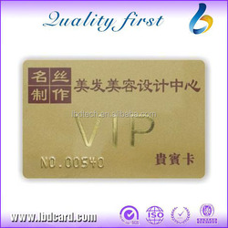 Gold Hot Stamping NFC Plastic RFID Cards Contactless Cards