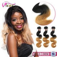 XBL Two Tone 6A Virgin Blonde Brazilian Hair Color 27