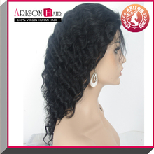 new fashion brazilian virgin remy hair curly full lace wig